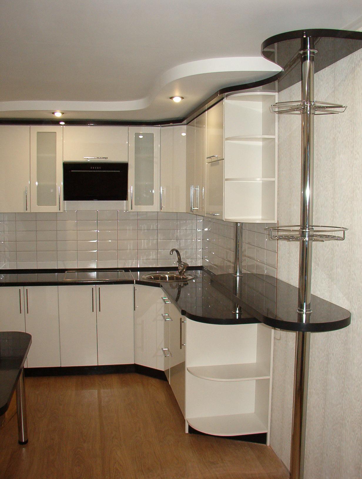 кухонная мебель с барной стойкой фото если